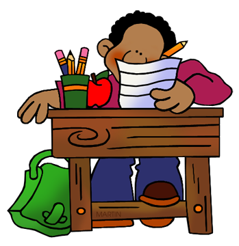 Student at Desk